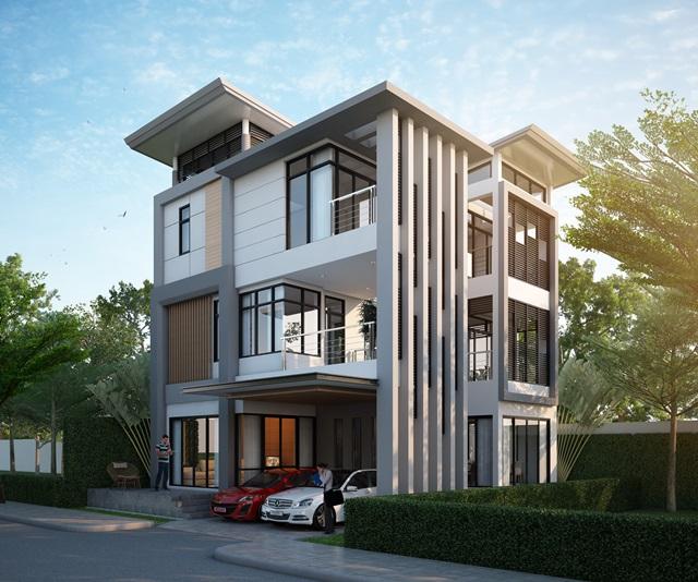 บ้านเดี่ยวไฮเอนด์ 3 ชั้น บ้านสวนสยาม เสรีไทย พร้อมสระว่ายน้ำส่วนตัว+โครงสร้างรับแผ่นดินไหว ใกล้ถนนใหญ่รามอินทรา ถนนรามคำแหง
