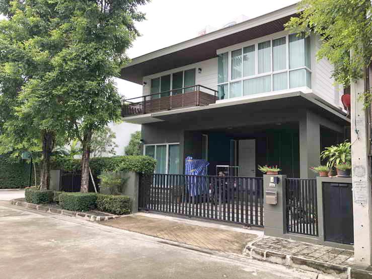 บ้านลาซาล บ้านหัวมุม หมู่บ้านนาราโบทานิค โครงการหรู ศรีนครินทร์ ลาซาล สุขุมวิท105 บางนา ใกล้แยกถนนศรีนครินทร์
