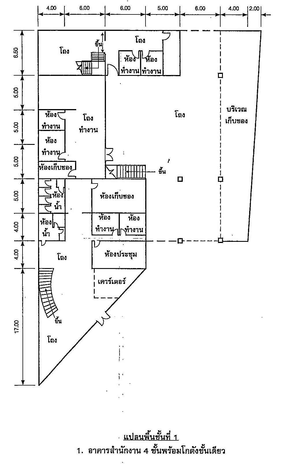 สำนักงานศรีนครินทร์ 4 ชั้น ถนนศรีนครินทร์ ใกล้ถนนตัดใหม่กรุงเทพกรีฑา-วงแหวนตะวันออก บางนาบางปะอิน-ร่มเกล้า