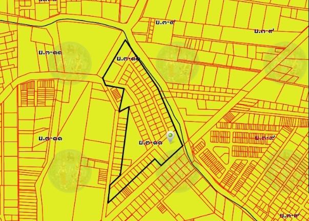 ที่ดินวัชรพล ติดถนนใหญ่สุขาภิบาล5 ประมาณ 27 ไร่ ติดถนน 3 ด้าน ด้านข้างติดคลอง ใกล้ทางด่วนสุขาภิบาล5-วัชรพล-รามอินทรา-พระราม9